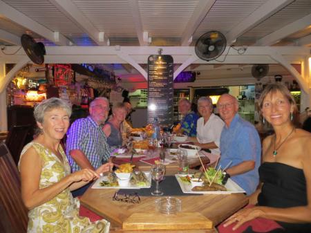 (left to right) Ann, Don,  Marilyn, Steve, Eric, Olga, Martin, Jackie